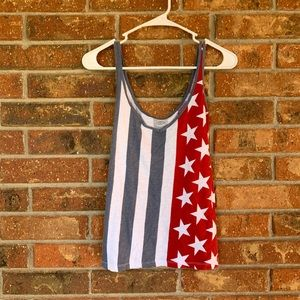 Old Navy American Flag Relaxed Tank Top